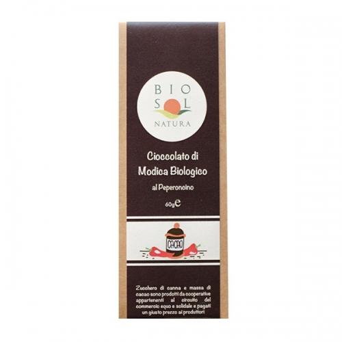 Cioccolato di Modica Biologico al peperoncino