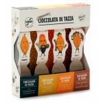 Cioccolato in Tazza extra fondente assortita BIO, 4 pezzi - Sabadì