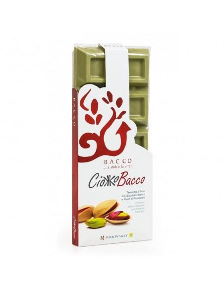 Cioccolato al pistacchio Ciokkobacco 400 gr