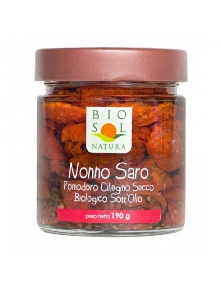 Pomodoro ciliegino secco biologico sott'olio Nonno Saro 190 gr