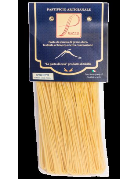 Piazza Pasta di semola di grano duro siciliano Spaghetti 500 gr