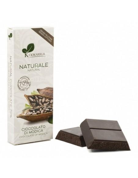 Cioccolato di Modica Naturale 70% 100 gr