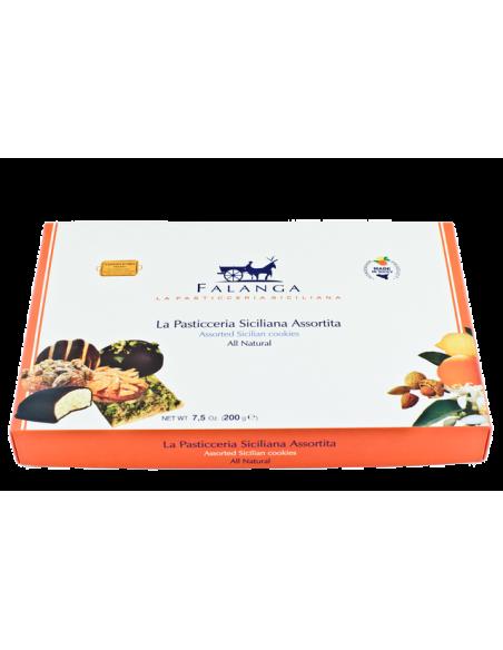 Pasticceria siciliana assortita in scatola regalo base 200 gr