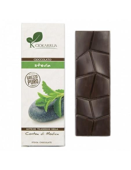 Cioccolato di Modica grezzo puro con stevia 40 gr