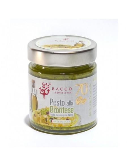 Pesto di pistacchio alla Brontese 70% con olio extravergine d'oliva 190 gr