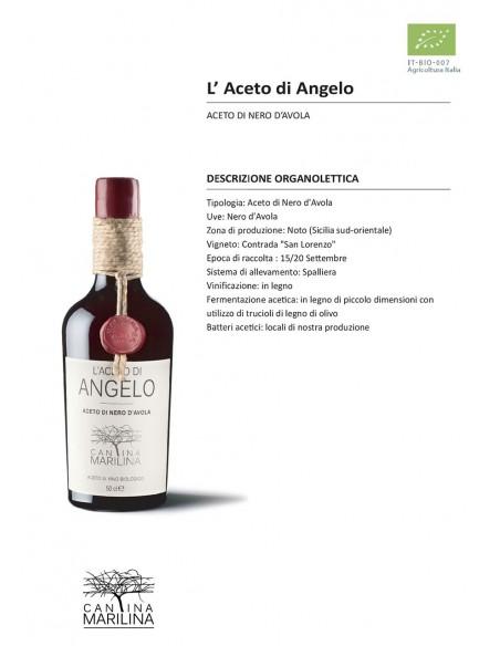 Angelo aceto di Nero d'Avola biologico 50 cl