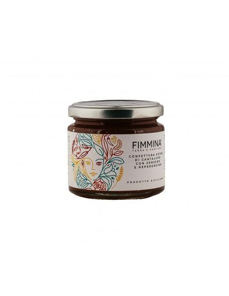Confettura extra di Cantalupo con Zenzero e Peperoncino 240 gr