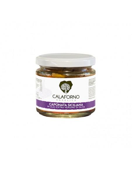 Caponata Siciliana Bio Calaforno in olio extravergine d'oliva 170 gr