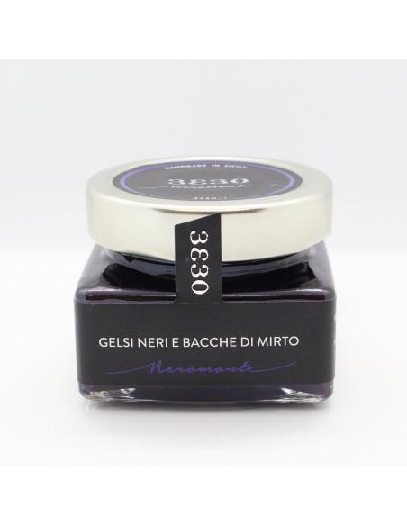 Confettura di Gelsi neri e bacche di mirto 160 gr