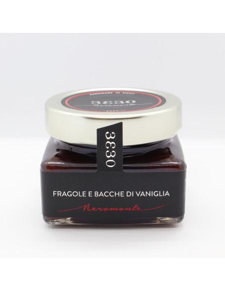Confettura di Fragole e bacche di vaniglia 160 gr