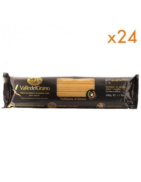12 kg Spaghetti trafilati al bronzo Valle del Grano 500 gr - 24 confezioni