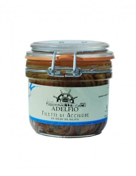 Filetti di acciughe all'olio di oliva 230 gr