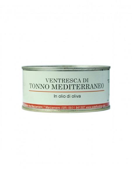 Ventresca di tonno del Mediterraneo all'olio d'oliva latta 300 gr