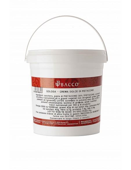 Crema di pistacchio La Golosa di Bacco 1 Kg