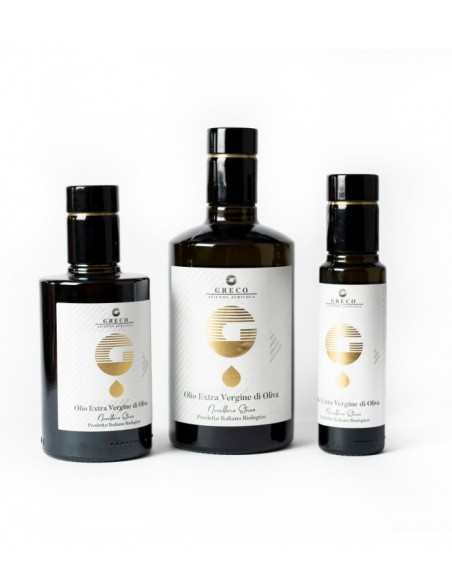 Greco Tris bottiglie Olio Extravergine di Oliva biologico