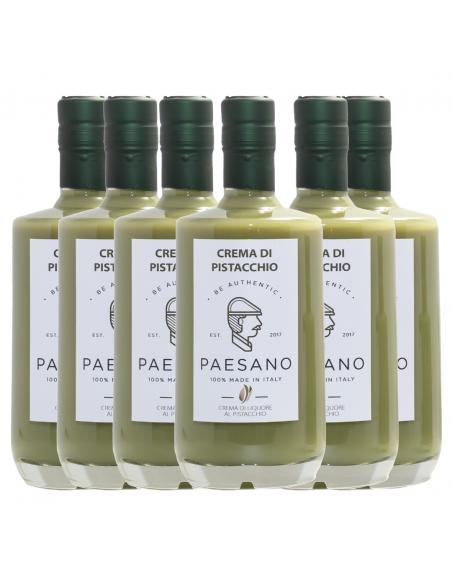 Box Paesano Liquore cremoso al pistacchio 17% 50 cl