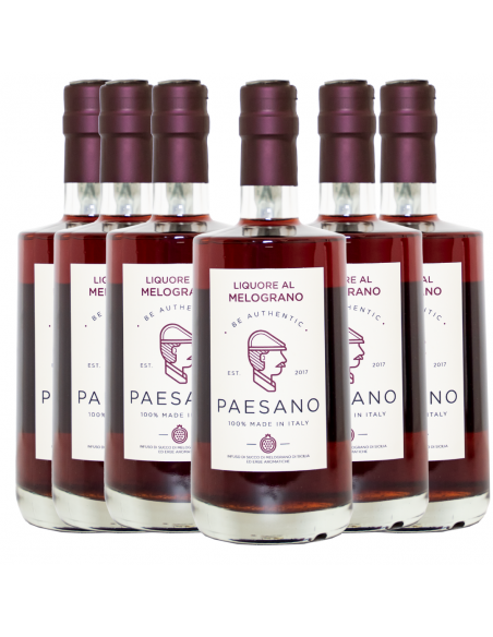 Box Paesano liquore al melograno 17% 50 cl