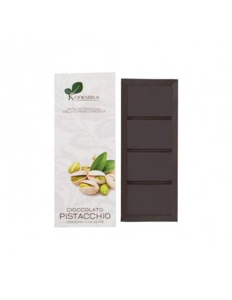 Cioccolato di Modica al pistacchio 50% 100 gr