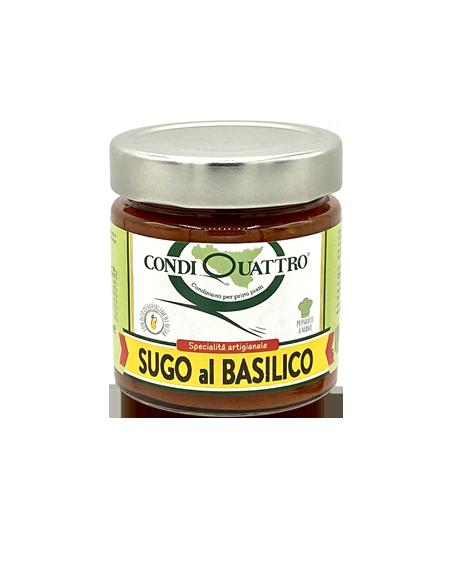 Sugo al basilico con olio EVO 200 gr