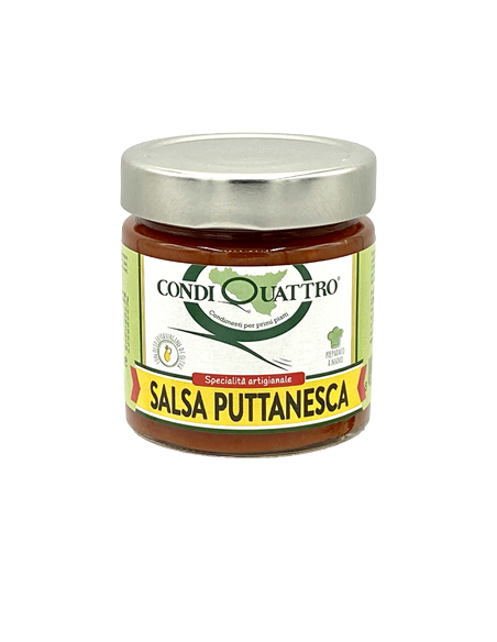 Salsa Puttanesca con olio EVO 200 gr