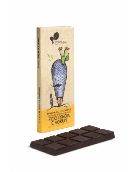 Cioccolato Artigianale Fico d'india e agrumi 50 gr