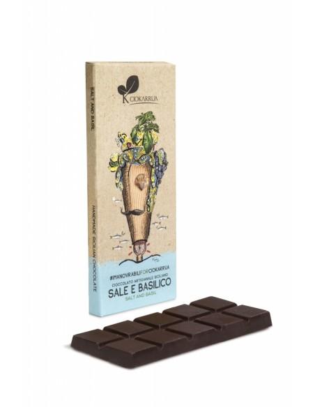 Cioccolato Artigianale Sale e basilico 50 gr