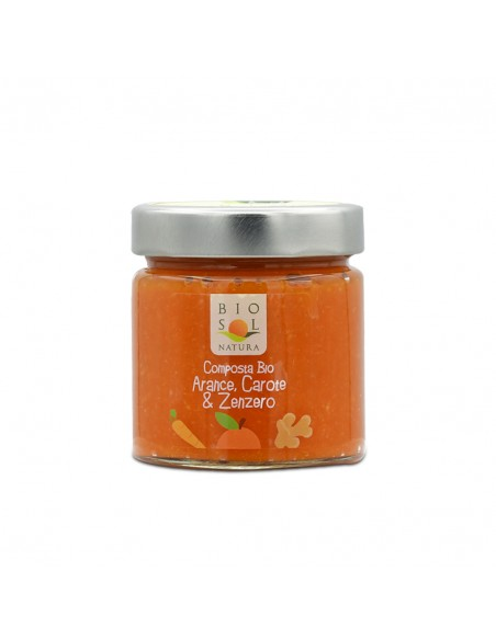 Composta arance carote e zenzero biologica 240 gr