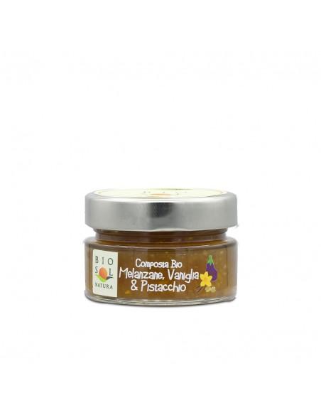 Composta melanzane vaniglia e pistacchio Biosolnatura 100 gr