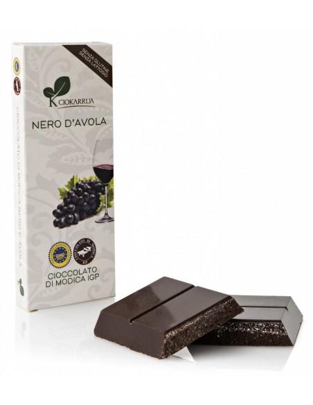 Cioccolato di Modica Nero d'Avola 100 gr