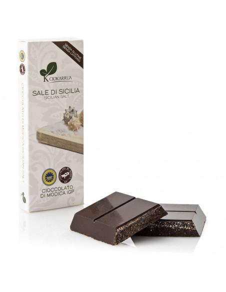 Cioccolato di Modica Sale di Sicilia 100 gr
