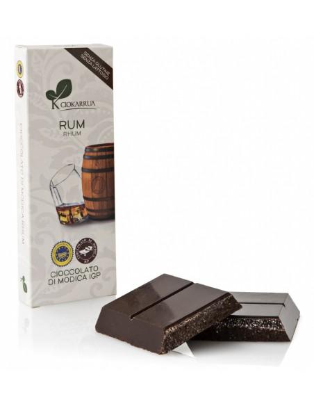 Cioccolato di Modica Rum 100 gr