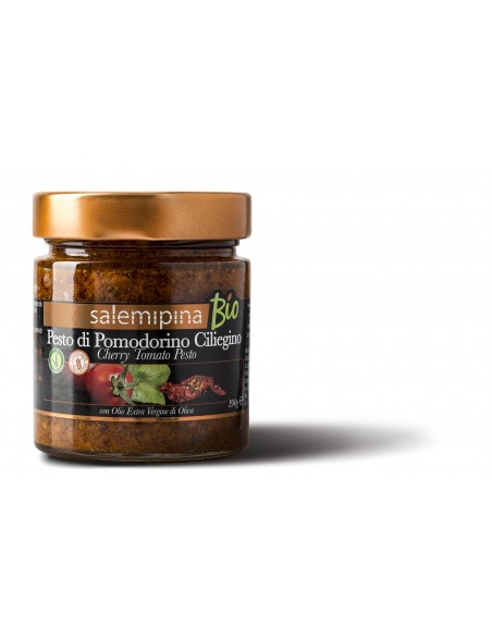 Pesto di pomodorino ciliegino biologico 190 gr