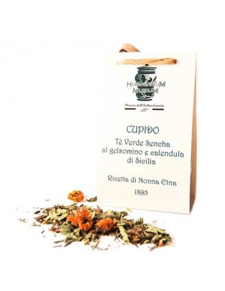Cupido Tè verde Sencha alla calendula di Sicilia 50 gr Il seduttore