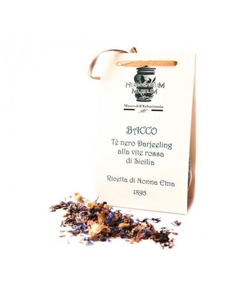 Bacco Tè Nero Darjeeling alla vite rossa di Sicilia 50 gr Il meditativo