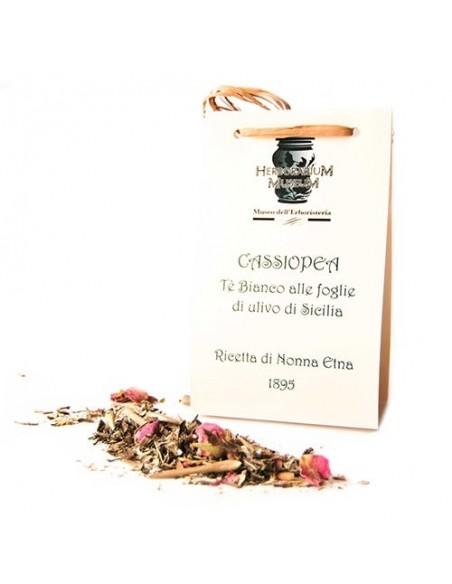 Cassiopea Tè Bianco alle foglie di Ulivo di Sicilia 50 gr L'Allegro