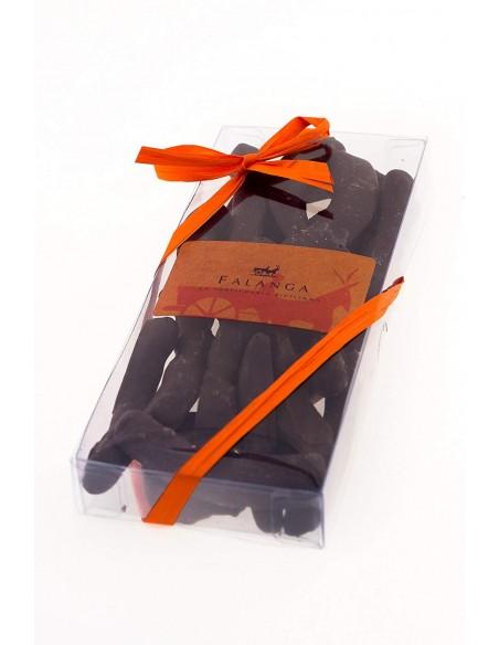 Scorzette d'arancia Falanga ricoperte di cioccolato fondente 100 gr