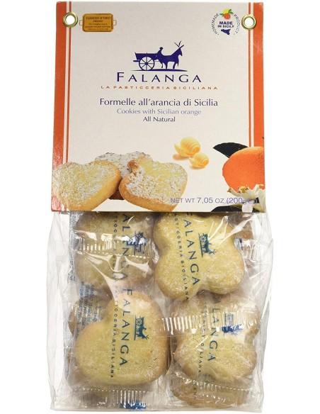 Stelle di mandorla e arancia di Sicilia in sacchetto 200 gr