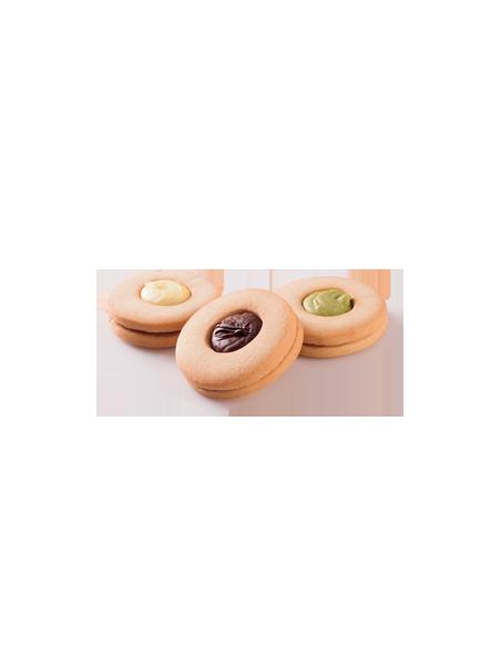 Occhi di bue biscotto di pasta frolla con crema di pistacchio 25 gr