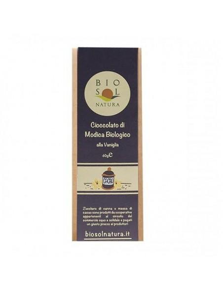Cioccolato di Modica alla vaniglia biologico 60 gr