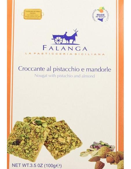 Croccante al pistacchio e mandorle Falanga 100 gr