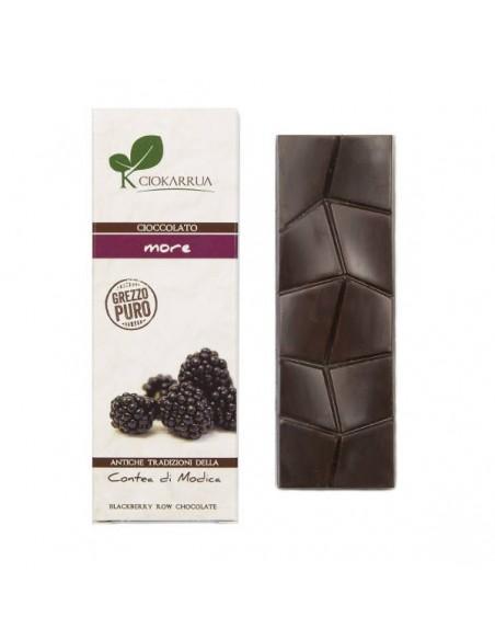 Cioccolato di Modica grezzo puro con more 40 gr