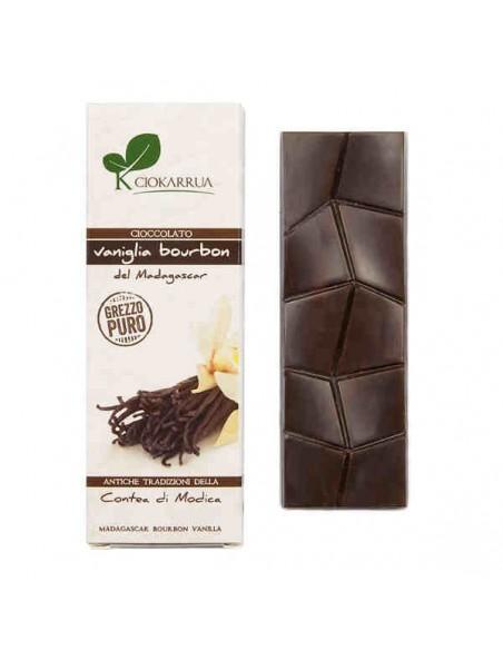 Cioccolato di Modica grezzo puro con vaniglia bourbon 40 gr