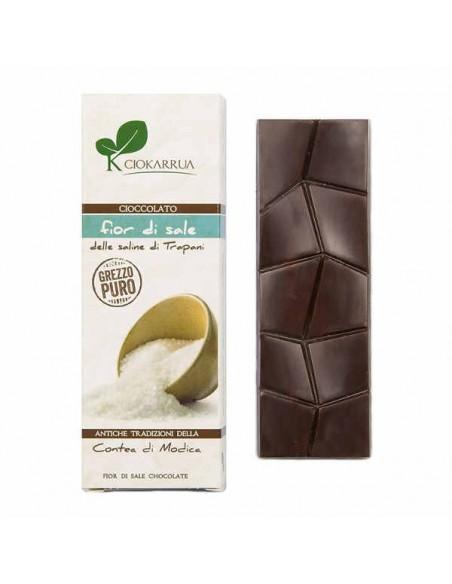 Cioccolato di Modica grezzo puro con fior di sale 40 gr