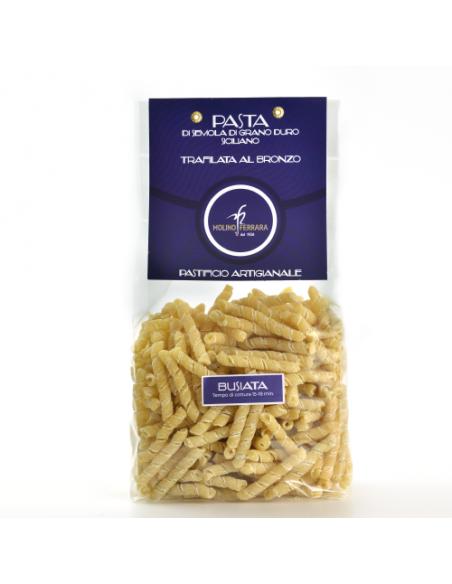 Busiate Siciliane di grano duro siciliano 500 gr